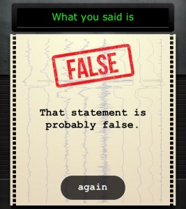 lie detector false reading