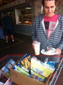 Son at costco