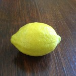 Homegrown lemon