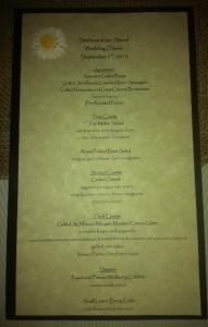 gourmet wedding menu