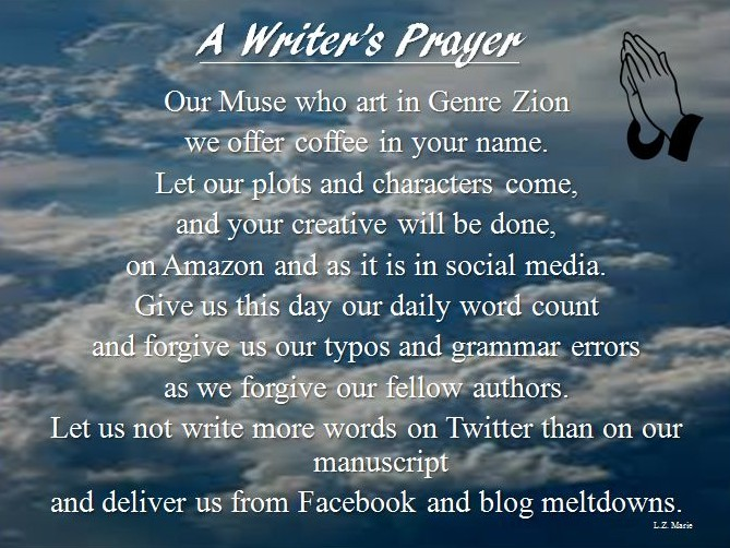 A writers prayer