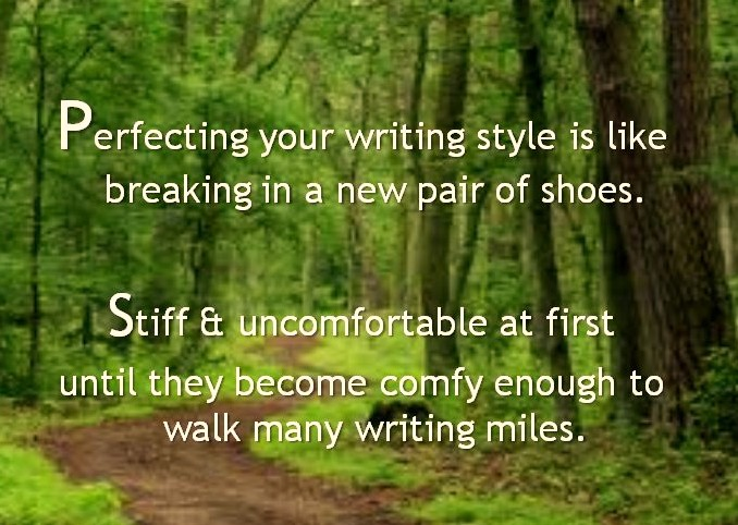 writing like shoes