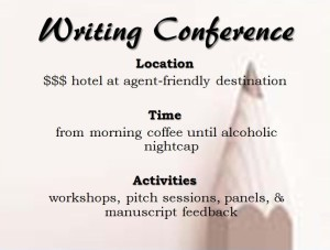 writing conference attendee