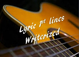 lyric 1st line