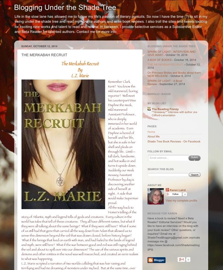 Shade Tree Blogging The Merkabah Recruit