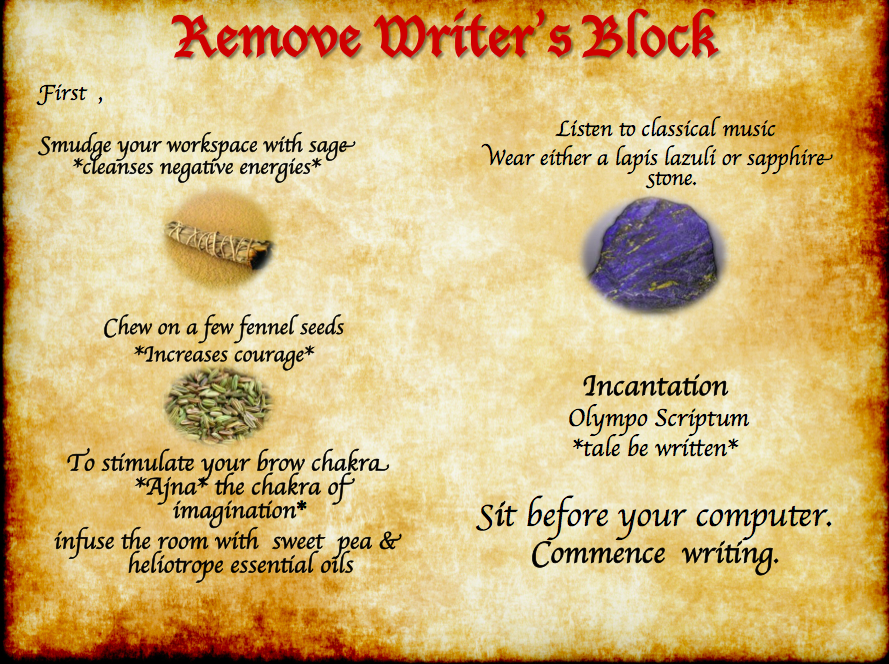 Remove writers block