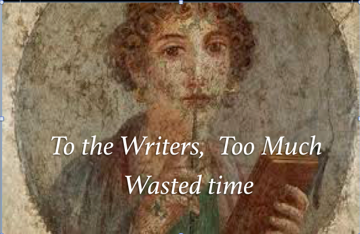 how writers waste time